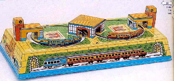 2 Eisenbahnen aus Blech
