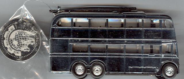 Corgi Q1 Trolleybus Chrome PlatedChristmas-Ed.