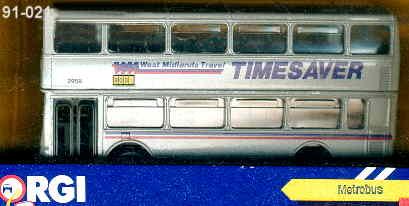 Corgi Metro Bus DD TIMESAVER West Midlands Trav