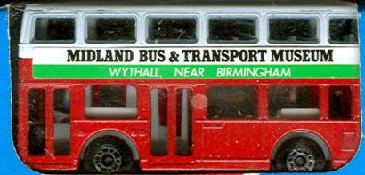 Matchbox London DD Midland Bus&Transport Museum