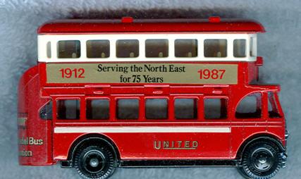 Lledo AEC-Regent 1932 DD Serving the North East 75 J.