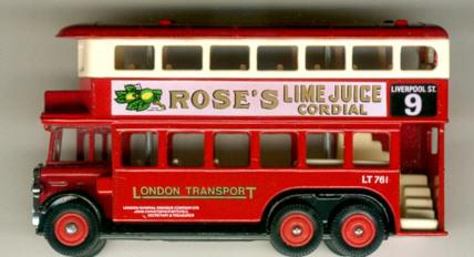 Lledo AEC-Renown 1931 DD ROSE'S LIME JUICE