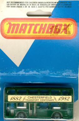 Matchbox London DD-Bus Chesterfield 1882-1982