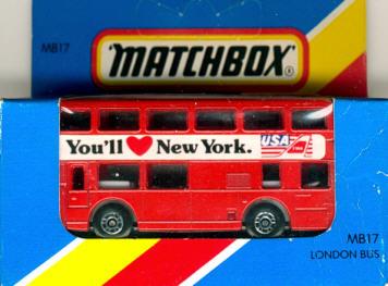 Matchbox London DD-Bus YOU'11 New York USA