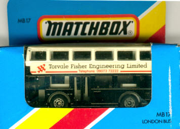 Matchbox London DD-Bus Torvale Fisher Engineering