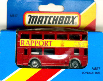 Matchbox London DD-Bus RAPPORT Global Sales From
