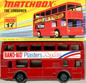 Matchbox London DD-Bus Band-Aid Plasters Playbus