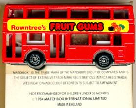 Matchbox London DD-Bus Rowntree's Fruit Gums