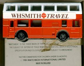 Matchbox London DD-Bus WHSMITH TRAVEL