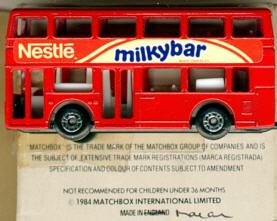 Matchbox London DD-Bus Nestle milkybar