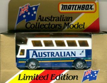 Matchbox Flughafen-Bus Australian Collectors Model