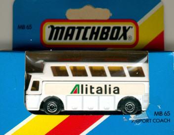 Matchbox Flughafen-Bus Alitalia