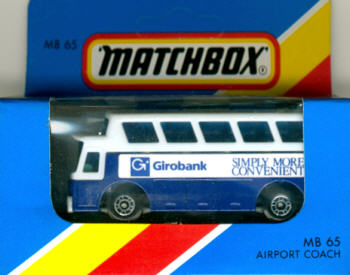 Matchbox Flughafen-Bus Girobank Simply More