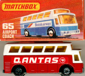 Matchbox Flughafen-Bus Qantas