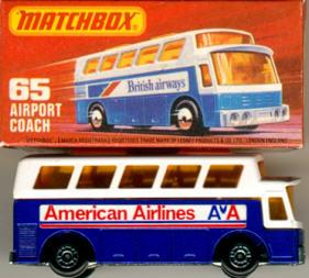 Matchbox Flughafen-Bus American-Airlines