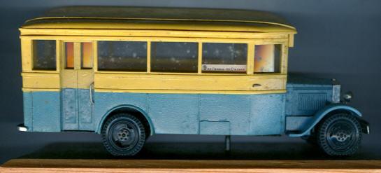 V/R ZIS  8 Omnibus russ.Handarbeit/Holzsock.