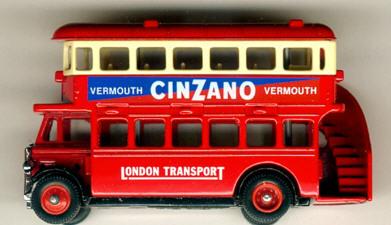 Lledo London DD-Bus CINZANO