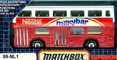 Matchbox London DD Nestle milkybar