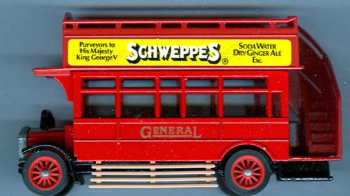 Matchbox/Yester. AEC-Omnibus Schweppes